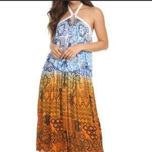RAGA Tiered Halter Maxi Dress SZ XS NEW with tags